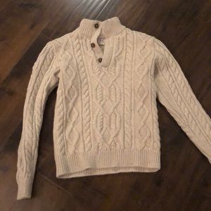 Gap off white cable knit sweater